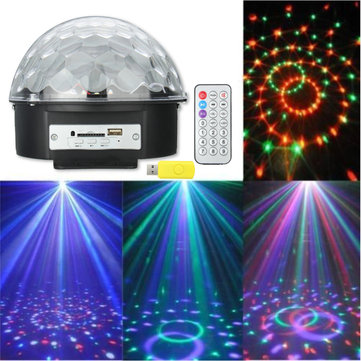 Magic Ball USB Bluetooth MP3 RGB LED Stage Light Scene Christmas KTV Disco Projector Lamp