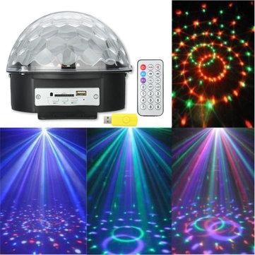 Magic Ball USB Bluetooth MP3 RGB LED Stage Light Scene Christmas KTV Disco Projector Lamp