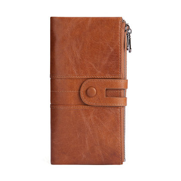 Women Genuine Leather Leisure Long Business Wallet