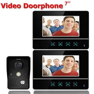 ENNIO SY811MKB12 inch TFT Touch Screen LCD Video Door Phone Wired Video Intercom 2 Monitor Doorbell