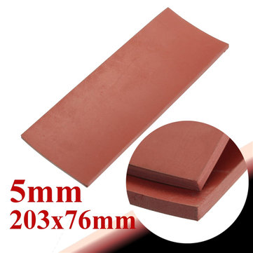 203x76x5mm Red Silicone Rubber Sheet Chemical Heat Resistance Plate