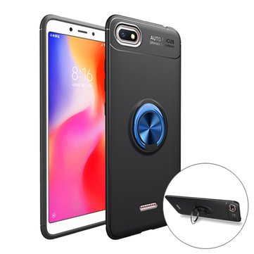 Bakeey 360° Rotation Finger Ring Magnetic Car Holder Shockproof Protective Case For Xiaomi Redmi 6A
