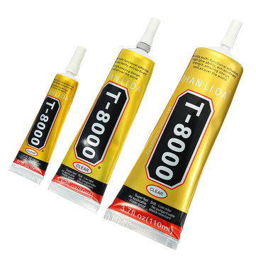 T8000 Glue Epoxy Resin Clear Adhesive Needle Type Phone Screen Repair DIY Crafts Jewelry 3 Sizes
