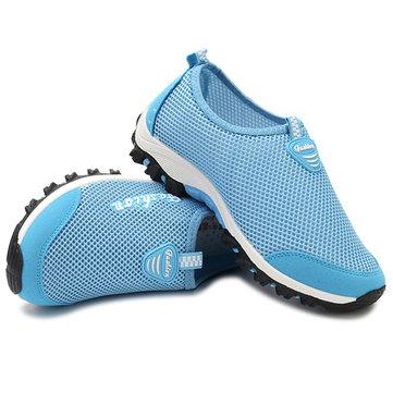 Женское Breathable Mesh Спортивная обувь Slip-on Легкий вес Спортивная обувь