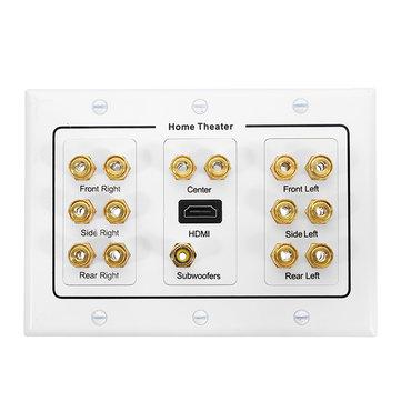 Home Theater 7.1 Surround Sound Speaker Sound Box Wall Plate HD Audio Banana