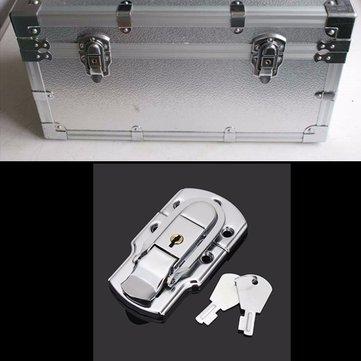 Box Buckle Iron Lock Air Box Hasp Instrument Case Clasp Hardware Fastener With Keys