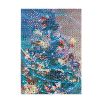 DIY 5D Full Diamond Christmas Tree Painting Embroidery Cross Stitch Home Decorations