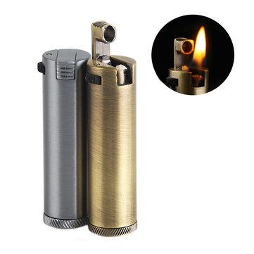 IPRee® Metal Kerosene Lighter Vintage Portable Refillable Windproof Mini Outdoor Lighter