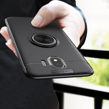 C-KU 360º Rotating Ring Grip Kicktand Protective Case For Samsung Galaxy J4 2018