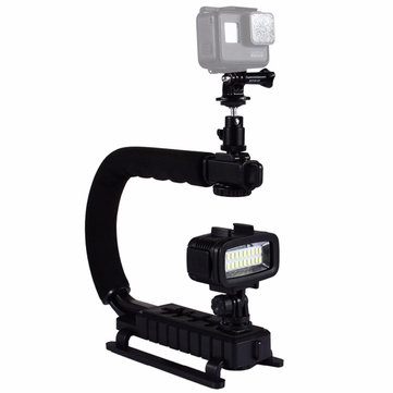 PULUZ PU3006 U-Grip C-shaped Hand Grip Camera Stabilizer Steadycam Holder Phone Clamp for DSLR
