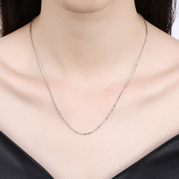 INALIS Gold Plated Platinum Rose Gold Fine Chain Clavicle Necklaces
