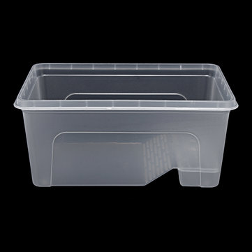 S/M/L Reptile Turtle Plastic Clear Breeding Feeding Box Aquarium Tank Platform Fish Feeder
