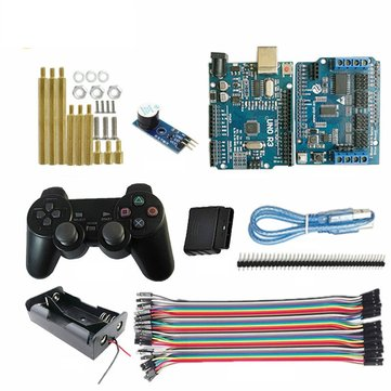 Wireless Controller Arduino Starter Kit UNO R3 Board + Active Buzzer for Smart Robot Tank Car Chass