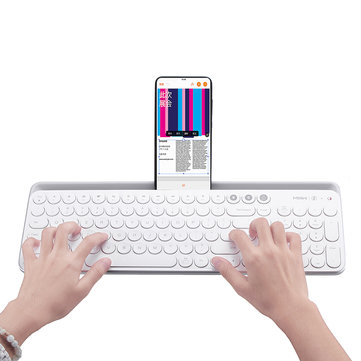 Xiaomi MIIIW 104Keys Wireless Bluetooth Dual Mode Membrane Keyboard White