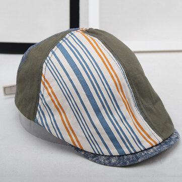 Cappello a righe in cotone a righe per uomo a maniche lunghe Estate Sport Capispalla