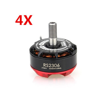 4X Emax RS2306 Black Edition 2750KV 3-4S Racing Brushless Motor For RC Drone FPV Racing Multi Rotor