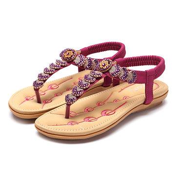 SOCOFY Casual Flip Flops Slip On Beach Flat Sandals