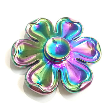 Six Leaves Flower Shape Colorful Rotating Fidget Hand Spinner ADHD Autism Reduce Stress Toys