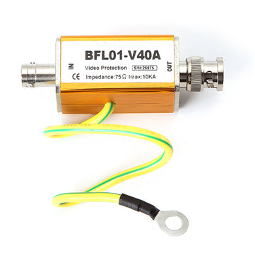 BFL01-V40A BNC Female to Male Video Coaxial Cable CCTV Camera Lightning Arrester Surge Protector