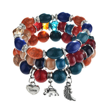 Bohemian Multilayer Tassel Beaded Bracelet Wings Bracelets