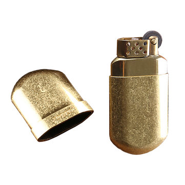 ZORRO Z516-003 Copper Mini Kerosene Lighter Vintage Windproof Cigarettes Lighter Oil Lighter