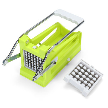 Stainless Steel Potato Cutter Multipurpose French Fry Cutter with 2 Blades