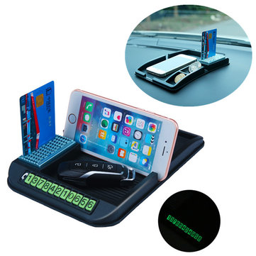 Multi-function Anti-slip Perfume Card Slot Dashboard Car Mount Phone holder Stand for iPhone Xiaomi