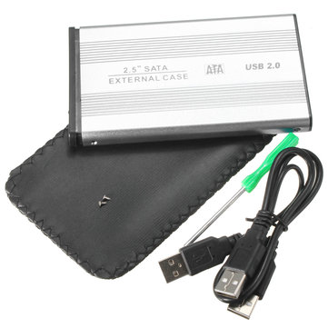 2.5 inch SATA to USB 2.0 HDD Hard Drive External Enclosure Hard Drive Case Caddy