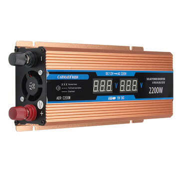 12V To 220V Inverter Intelligent LCD Dual Display Solar Power Inverter Peak 2200W 1200W 500W