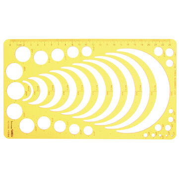 Circle Radius Semicircle Drawing Template KT Soft Plastic Ruler Jewelry Building Design Drawing Board