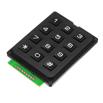 12 Key MCU Membrane Switch Keypad 4 x 3 Matrix Array Matrix Keyboard Module For Arduino