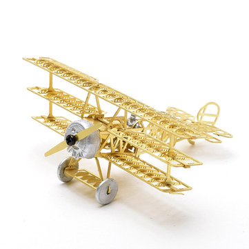 Fokker DR.1 Red Baron 1/160 3D Metal Assembly Etching Model Airplane Puzzle
