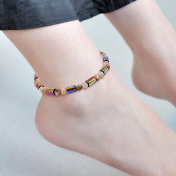 Unisex Classic Colorful Beaded Ankle Bracelets Creative Gift