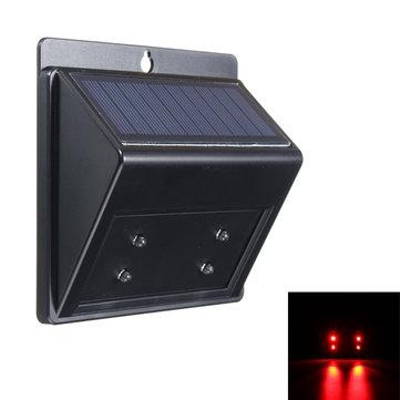 ソーラーパワードプレデター抑制4 LEDライトセンサー動物リプラー屋外ランプ