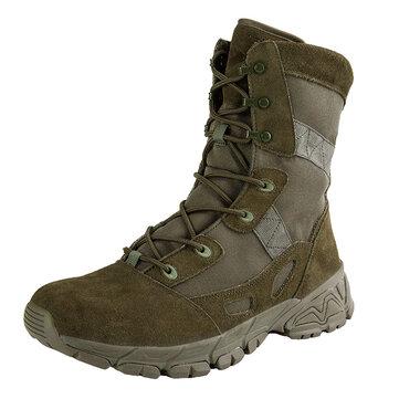 Men Waterproof Wear Resistant Outdoor Military Mid-Calf Boots