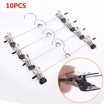10pcs Stainless Steel Racks Clothes Stand With Black Wind Clip 290mm x75mm