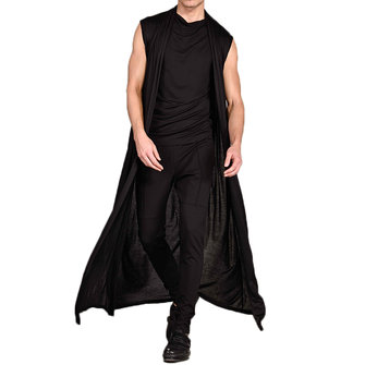 ChArmkpR Mens Sleeveless Black Breathable Thin Long Cardigan