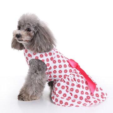 애완 동물 의류 조끼 셔츠에 대한 빈티지 핑크 폴카 도트 개 복장