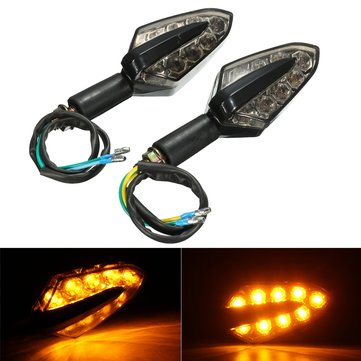Pair 12V LED Motorcycle Turn Signal Indicator Light Turning Amber Lamp Bulb