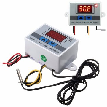3pcs XH-W3001 220V 10A Digital Display LED Temperature Controller With Thermostat Control Switch Probe