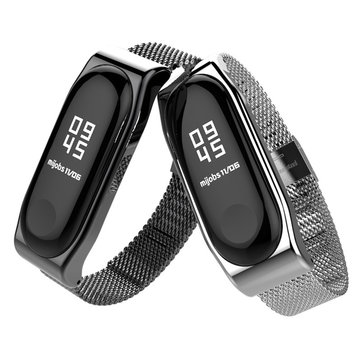 Luxury Milanese Stainless Steel Watch Band Strap Replacement for Xiaomi Miband 3