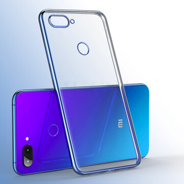 Bakeey™ Color Plating Transparent Soft TPU Back Cover Protective Case for Xiaomi Mi 8 Lite 6.26 inch