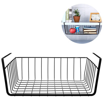 1 PC Iron Hanging Basket Outdoor Camping Picnic Storage Baskets Barbecue Kitchen Debris Storage Rack