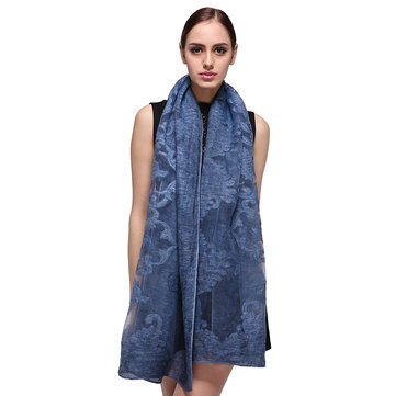 Women Summer Jacquard Breathable Beach Towel Solid Outdoor Casual Scarf Shawl