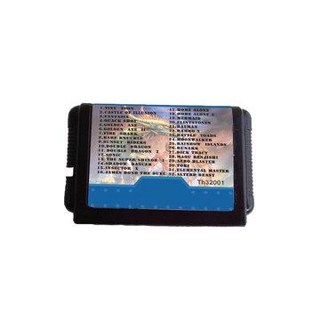 16 Bit 32 in 1 Black Game Cartridge for MD Sega Mega Drive