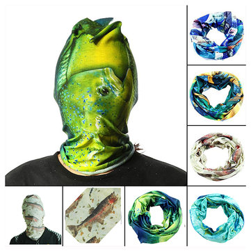 52*24CM Outdoor Sports Fishing Polyester Tubular Scarf Wrist Head Band Face Mask Protector