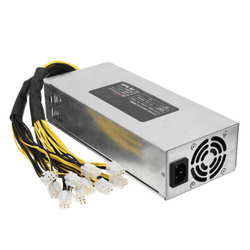 1800W Coin Mining Power Supply 93% For Antminer BTC Miner Machine