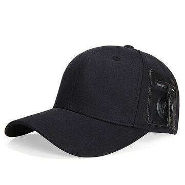 Mens Womens Fashion Cotton Baseball Hats Outdoor Sports Quality Zipper Decoration Trucker Cap