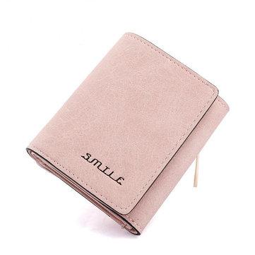 Женщины Короткие PU кожаный бумажник карты держатель кошелек