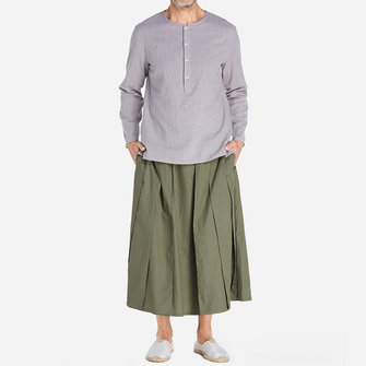 Mens Casual Wide Leg Waist Pants